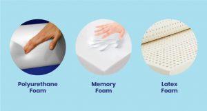 perbedaan kasur poly foam, kasur memory foam dan kasur latex foam