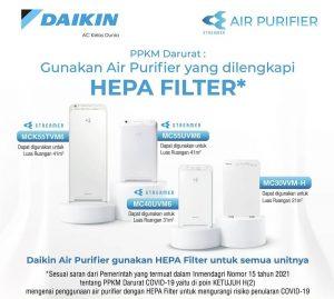 air purifier daikin tipe MCK55TVM6