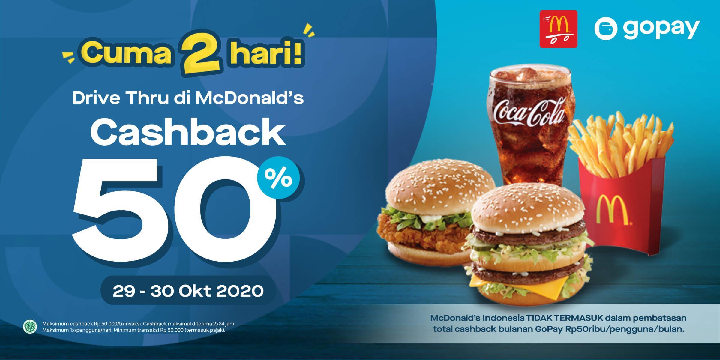 Mcdonald S Indonesia Gopay Cashback 50