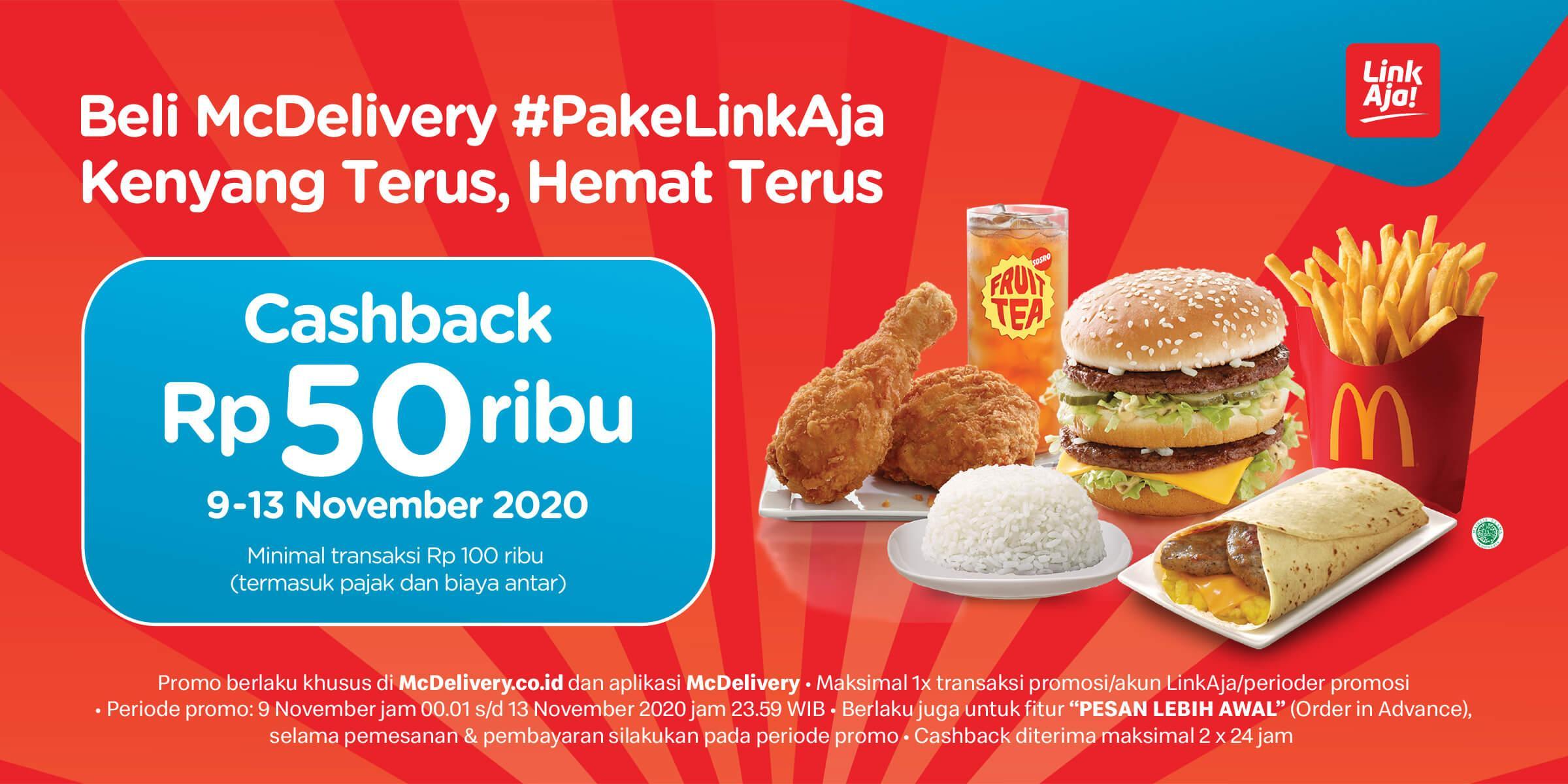 Mcdonald S Indonesia Promo Cashback Rp 50 000 Dengan Linkaja