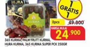 Promo Harga 365 365 Kurma, PALM FRUIT Kurma/HIJRA Kurma/365 Kurma Super 250 g  - Superindo