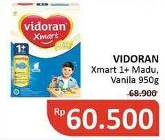 Promo Harga VIDORAN Xmart 1+ Madu, Vanilla 950 gr - Alfamidi