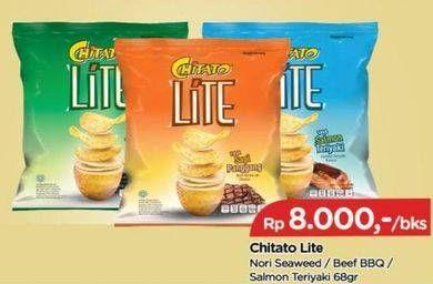 Promo Harga CHITATO Lite Snack Potato Chips  Beef BBQ, Salmon Teriyaki, Seaweed 68 gr - TIP TOP