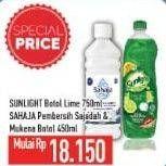 Promo Harga SUNLIGHT Sunlight Cairan Pencuci Piring/Sahaja Pembersih Sajadah & Mukenah  - Hypermart