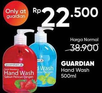 Promo Harga GUARDIAN Hand Wash Strawberry, Cooling Mint 500 ml - Guardian