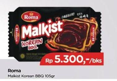 Promo Harga ROMA Malkist Korean BBQ 105 gr - TIP TOP
