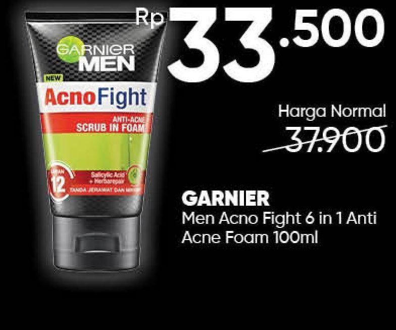 Promo Harga GARNIER MEN Acno Fight Facial Foam 100 ml - Guardian