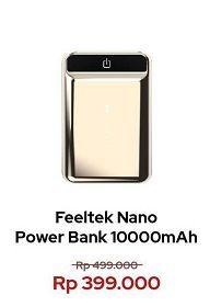 Promo Harga FEELTEK Nano Power Bank  - Erafone