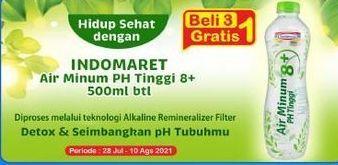 Promo Harga INDOMARET Air Minum pH 8+ 500 ml - Indomaret