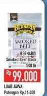 Promo Harga BERNARDI Smoked Beef Block 500 gr - Hypermart