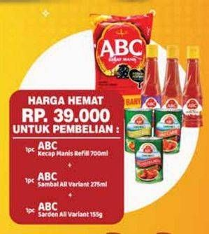 Promo Harga ABC ABC Kecap Manis/Sambal/Sarden  - Yogya
