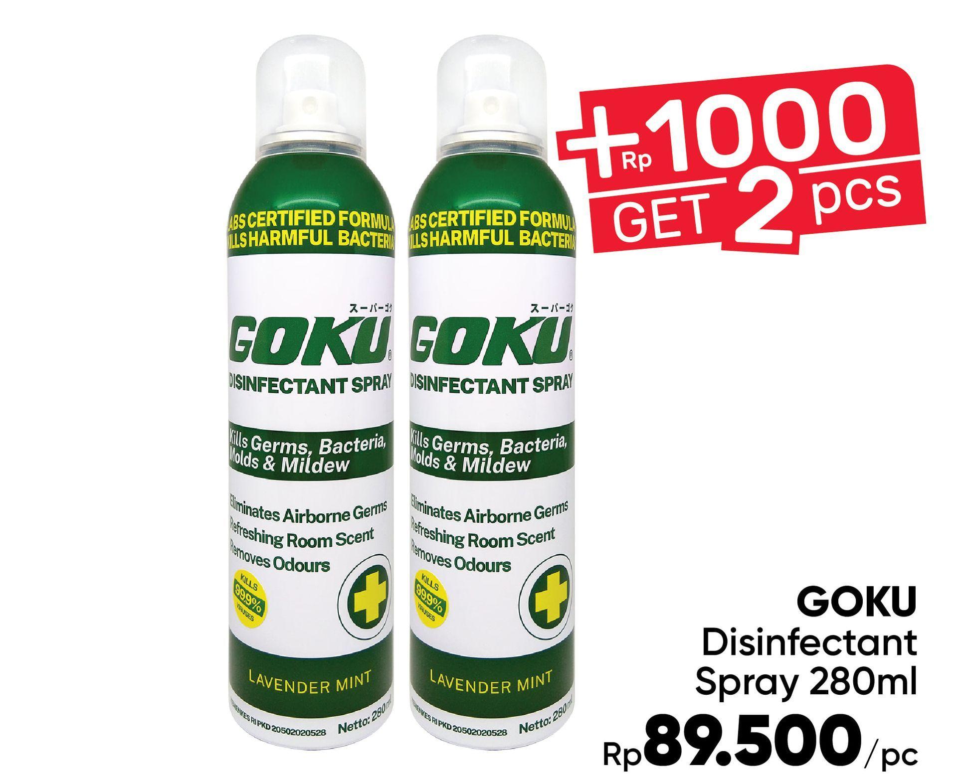 Promo Harga GOKU Disinfectant Spray 280 ml - Guardian