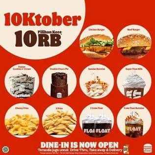 Promo Harga BURGER KING Menu  - Burger King