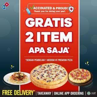 Promo Harga DOMINOS Medium HT Pizza  - Domino Pizza