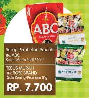 Promo Harga ROSE BRAND Gula Kristal Putih Premium, Kuning 1000 gr - Yogya