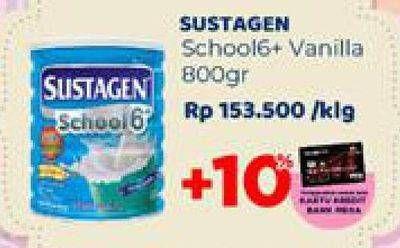 Promo Harga SUSTAGEN School 6+ Susu Pertumbuhan Vanilla 800 gr - Carrefour