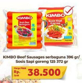 Promo Harga KIMBO Kimbo Sosis Sapi Serbaguna/Goreng  - Carrefour