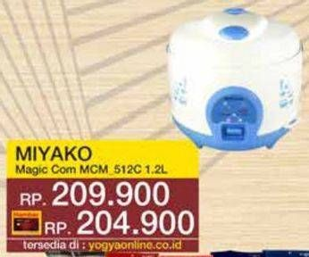 Promo Harga MIYAKO MCM-512 | Rice Cooker 1.2ltr  - Yogya