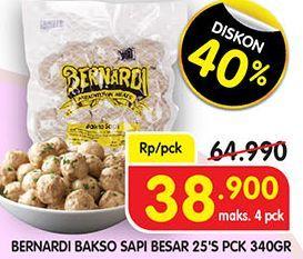 Promo Harga BERNARDI Bakso Sapi Besar 25 pcs - Superindo