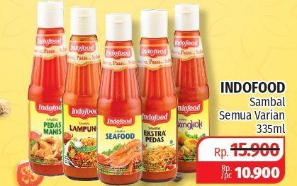 Promo Harga INDOFOOD Sambal All Variants 335 ml - Lotte Grosir