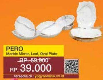 Promo Harga PERO Pero Marble Mirror/Leaf Oval Plate  - Yogya