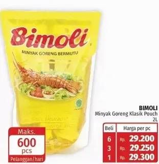 Promo Harga BIMOLI Minyak Goreng 2000 ml - Lotte Grosir
