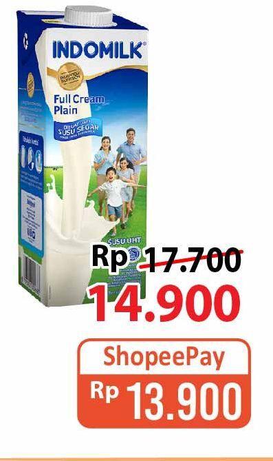 Promo Harga INDOMILK Susu Fresh Cokelat, Plain 950 ml - Alfamart