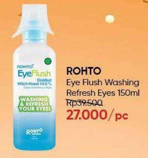 Promo Harga ROHTO Eye Flush 150 ml - Guardian