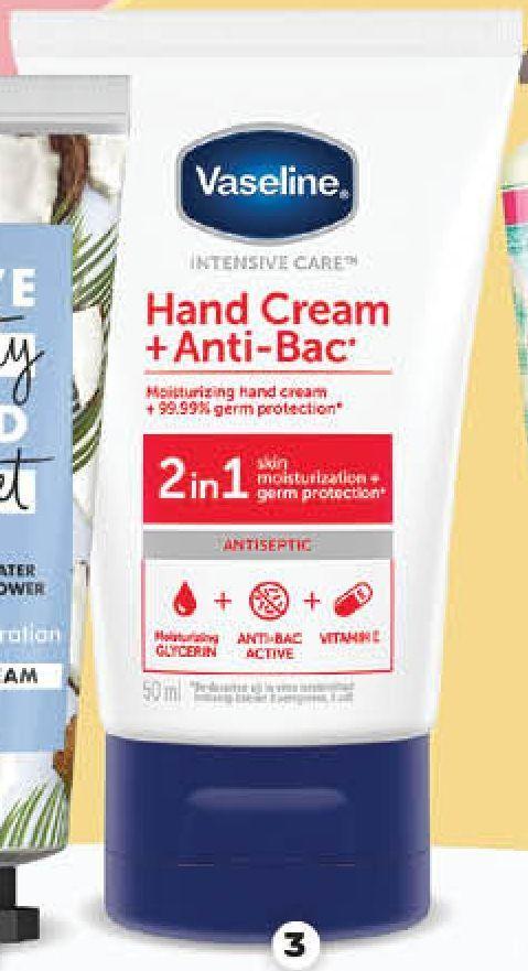 Promo Harga VASELINE Hand Cream Anti Bac 50 ml - Guardian