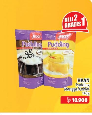 Promo Harga HAAN Pudding Mango, Chocolate 145 gr - Lotte Grosir