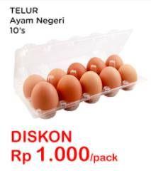 Promo Harga Telur Ayam Negeri 10 pcs - Indomaret