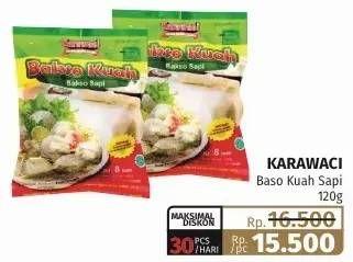 Promo Harga KARAWACI Bakso Kuah Sapi 120 gr - Lotte Grosir
