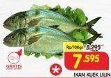 Promo Harga Ikan Kuek Lilin per 100 gr - Superindo