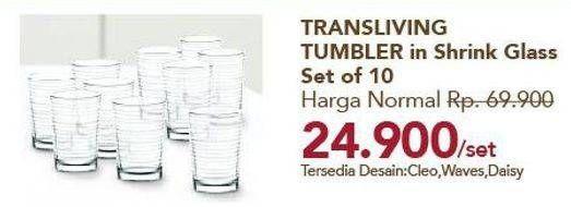 Promo Harga TRANSLIVING Tumbler in Shrink Glass  - Carrefour