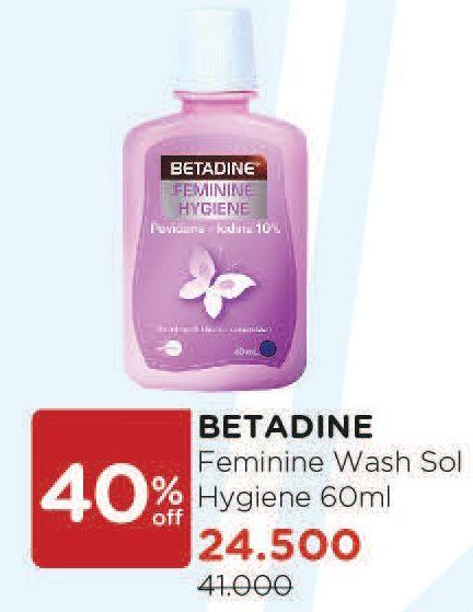 Promo Harga BETADINE Feminine Hygine 60 ml - Watsons