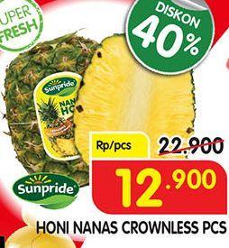 Promo Harga HONI Sunpride Nanas Crownless  - Superindo