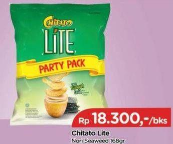 Promo Harga CHITATO Lite Snack Potato Chips  Seaweed 168 gr - TIP TOP