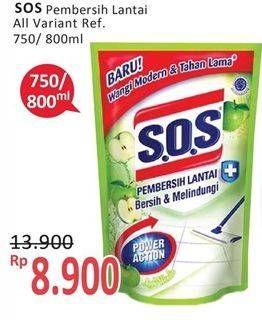 Promo Harga SOS Pembersih Lantai All Variants 750 ml - Alfamidi