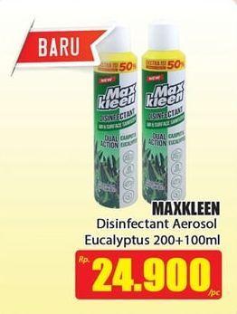 Promo Harga MAX KLEEN Disinfectant Spray Dual Action Eucalyptus 200 ml - Hari Hari