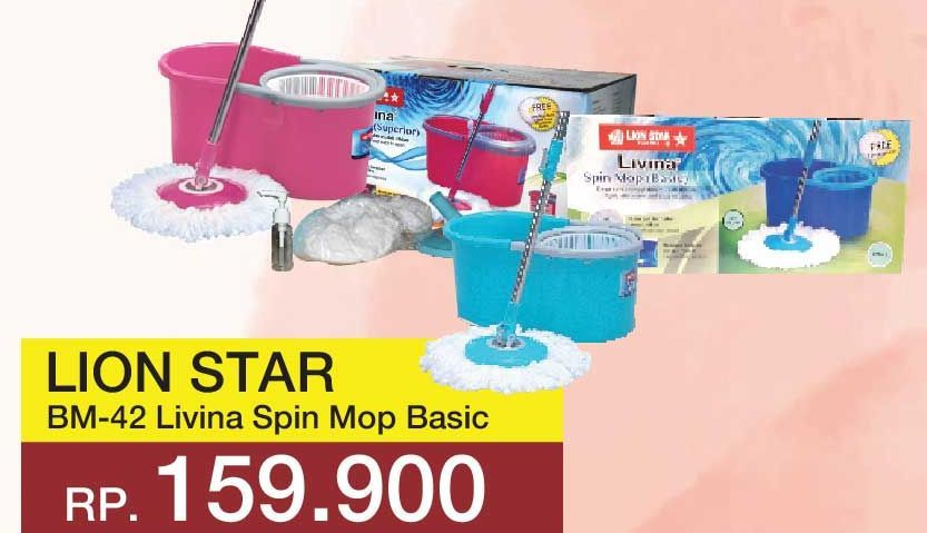 Promo Harga LION STAR Livina Spin Mop BM-42  - Yogya