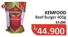 Promo Harga KEMFOOD Beef Burger per 12 pcs 400 gr - Alfamidi