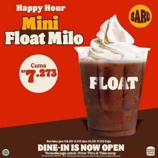 Promo Harga BURGER KING Float Mini Float Milo  - Burger King