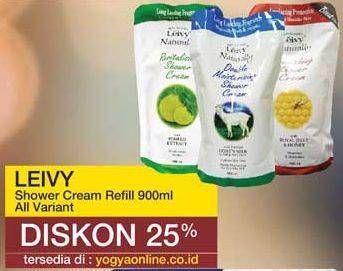 Promo Harga LEIVY Shower Cream All Variants 900 ml - Yogya