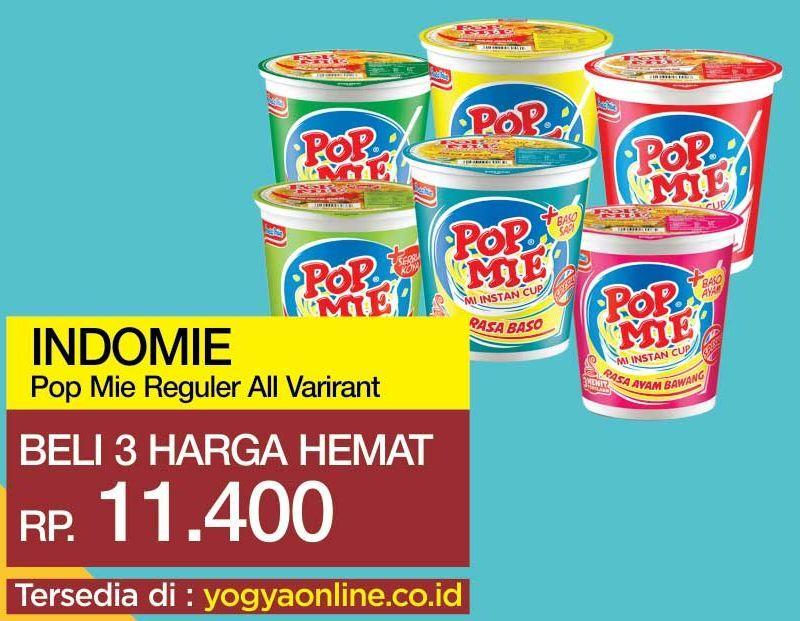 Promo Harga INDOMIE POP MIE Instan All Variants 75 gr - Yogya