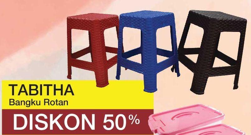 Promo Harga TABITHA Bangku Rotan  - Yogya