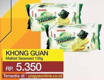 Promo Harga KHONG GUAN Malkist Seaweed 135 gr - Yogya