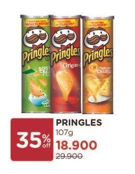 Promo Harga PRINGLES Potato Crisps All Variants 107 gr - Watsons
