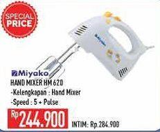 Promo Harga MIYAKO HM-620 Hand Mixer  - Hypermart