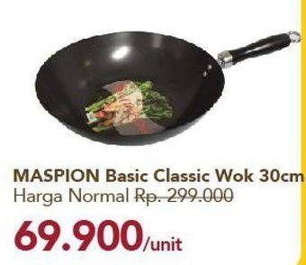 Promo Harga MASPION Basic Classic Wok 30 Cm  - Carrefour