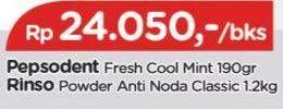 Promo Harga RINSO Anti Noda Deterjen Bubuk Classic Fresh 1200 gr - TIP TOP